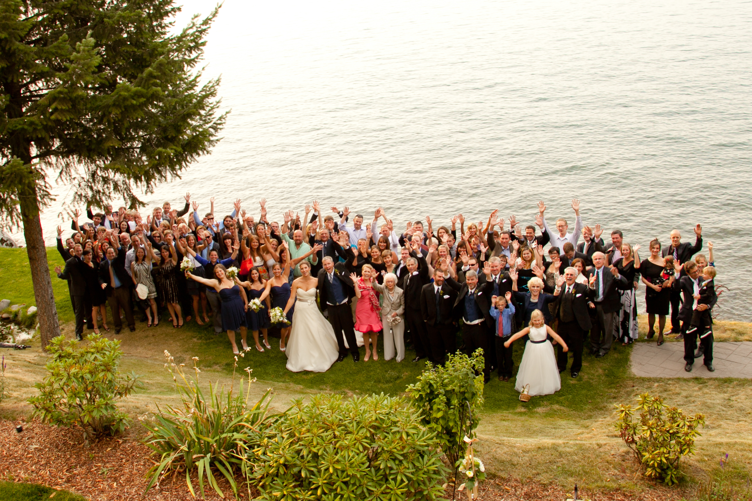 Group Shot Of All The Wedding Guests